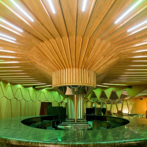Barra circular Restaurante A'Barra Madrid